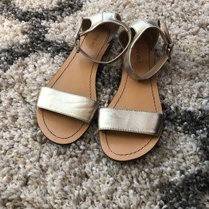 9 West gold sandals
